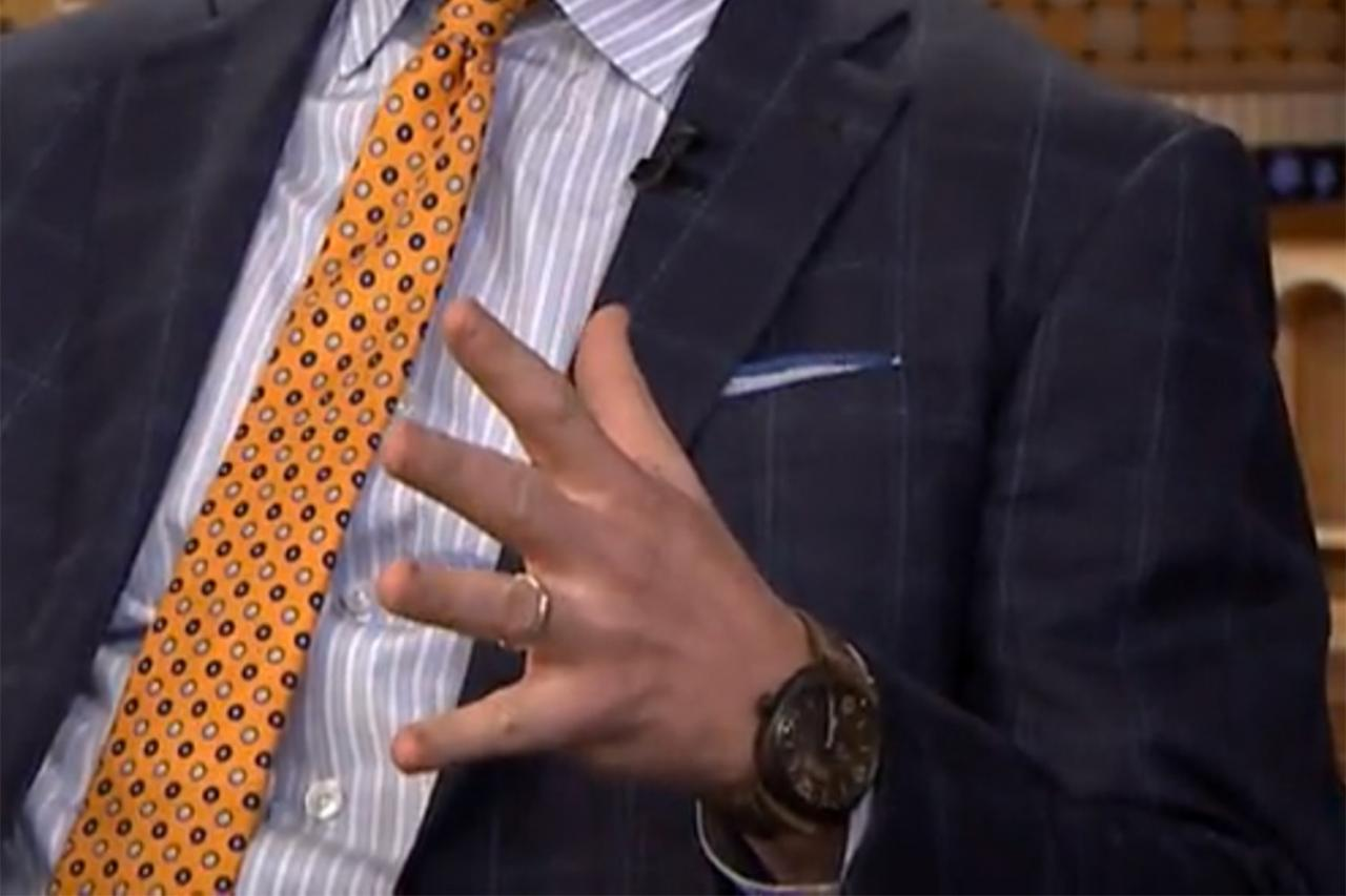 Super Bowl 50 Champion Peyton Manning Wearing A Panerai Radiomir On The Tonight Show With Jimmy Fallon