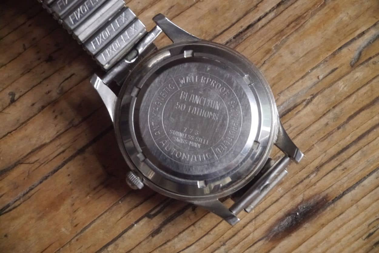 Blancpain Fifty Fathoms case back