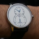 Jaquet Droz Grande Seconde Quantieme Ivory Enamel Watch Hands-On Hands-On